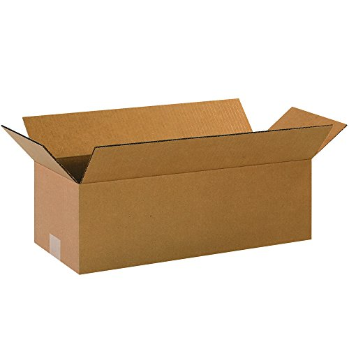 Aviditi 2086100PK Long Corrugated Boxes, 20'' L x 8'' W x 6'' H, Kraft (Pack of 100) by Aviditi