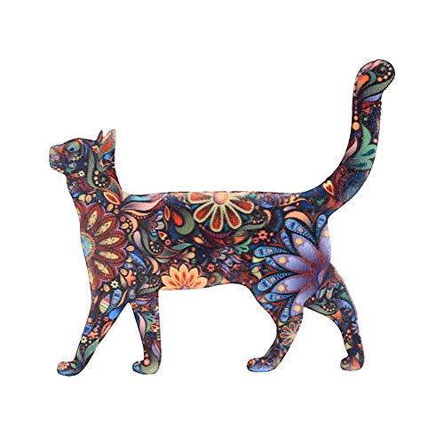 bjduck99 Unisex Fashion Cute Animal Cat Elephant Pattern Brooch Pin Badge Jewelry 8# ()