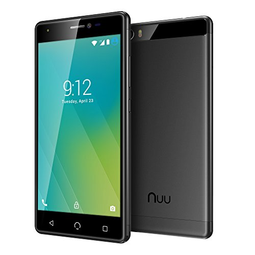 NUU Mobile M2 5.0' HD LTE Android 7.0 Smartphone, Black