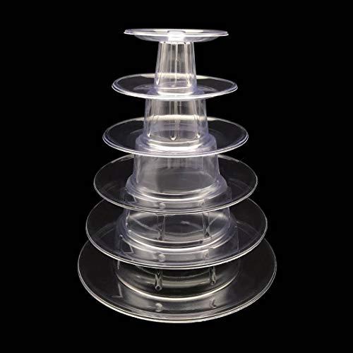 - Candora 6 Tiers Round Macaron Tower Cake Stand dessert Display Rack for Wedding Birthday