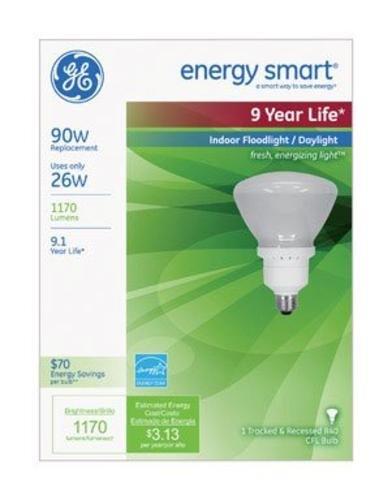 Compact Fluorescent Ge Light Bulb - GE Indoor Floodlight Compact Fluorescent Bulb R40 26W Daylight (63518)