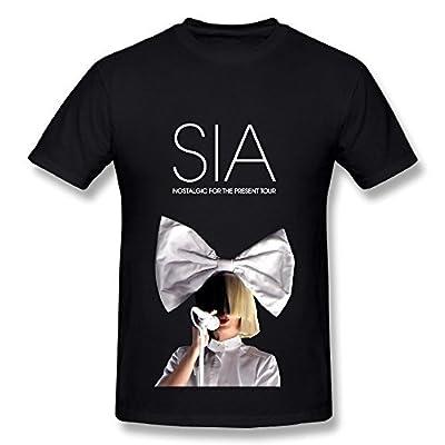 Shumaisety Best Black T Shirt for Men Sia Furler Tour 2016 Sister This is Acting