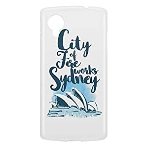Loud Universe Nexus 5 City Of Fire Works Sydney Print 3D Wrap Around Case - White/Blue