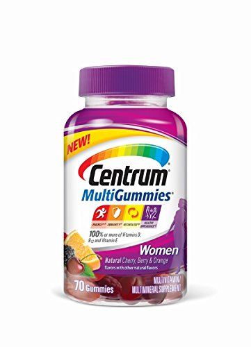 Centrum Women MultiGummies Multivitamin/Multimineral Supplement, 70 Count, Natural Cherry/Berry/Orange Flavor For Sale