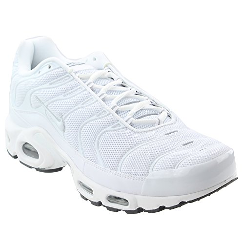 Nike Air Max Plus, Scarpe da Corsa Uomo Bianco (White/White-black-cool Grey 139)