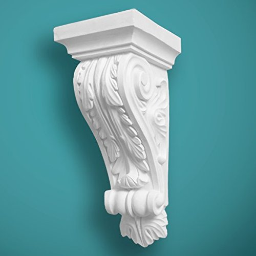 Plaster Corbel Acanthus Leaf Height 311mm - Width 132mm Handcrafted in Yorkshire Bespoke Plaster Mouldings Ltd