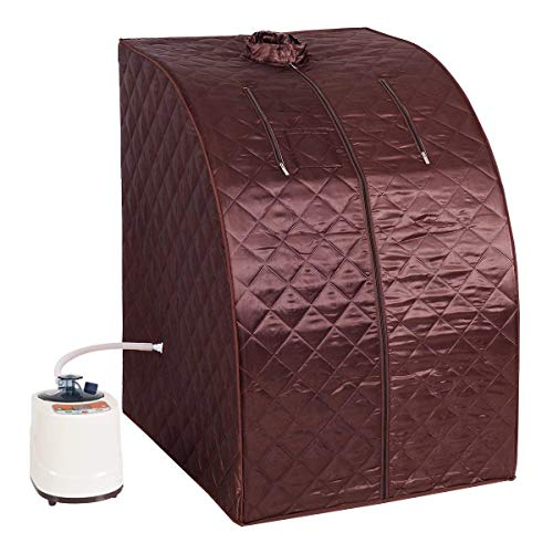 Steam Seat Valve (Giantex Portable 2L Steam Sauna Spa Full Body Slimming Loss Weight Detox Therapy w/Chair (Coffee))