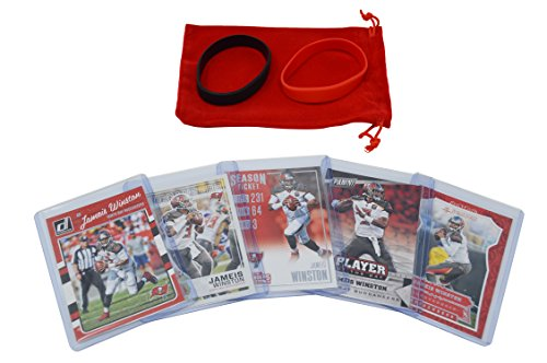 (Jameis Winston Football Cards Assorted (5) Bundle - Tampa Bay Buccaneers Trading Cards)