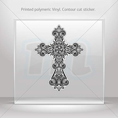 (Decals Decal Extremely Detailed Cross Design Tablet Laptops Weatherpro (8 X 5.95 Inches))