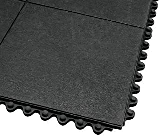 product image for Apache Mills Interlocking Antifatigue Mat, Rubber, Black, 3 ft. x 3 ft, 1 EA - 3947809203x3