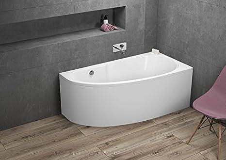 MIKI bañera [acabado: 140 cm x 70 cm – Derecho – Aprox. 90 L ...