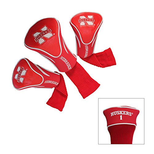 Team Golf NCAA Contour Golf Club Headcovers (3 Count), Numbered 1, 3, & X, Fits Oversized Drivers, Utility, Rescue & Fairway Clubs, Velour lined for Extra Club Protection Custom Golf Club Utility Clubs