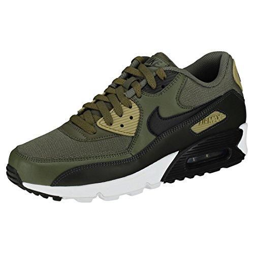 NIKE Mens Air Max 90 Essential Running Shoes Medium Olive/Black/Sequoia AJ1285-201 Size 10 -