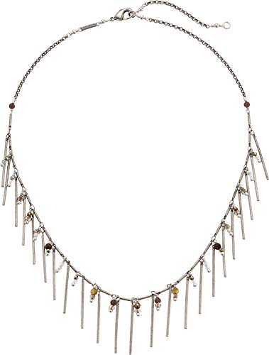 Chan Luu Women's Dangle Bar Chain Necklace Labradorite One ()