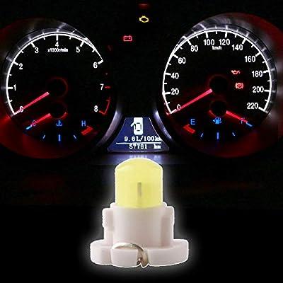 Grandview 10pcs White T4.2 COB 1 SMD Led For Dashboard Instrument Cluster Light Car Light Bulb Side Light Indicator light Interior Panel Bulb Light 12V: Automotive