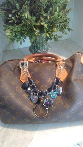 in fashioned with Charm re-purposed with 100% Authentic Louis Vuitton monogram canvas ()