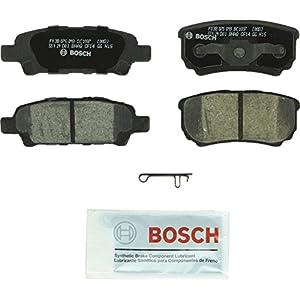 Bosch BC1037 QuietCast Premium Ceramic Disc Brake Pad Set For Select Chrysler 200, Sebring; Dodge Avenger, Caliber; Jeep Compass, Patriot; Mitsubishi Lancer, Outlander; Rear