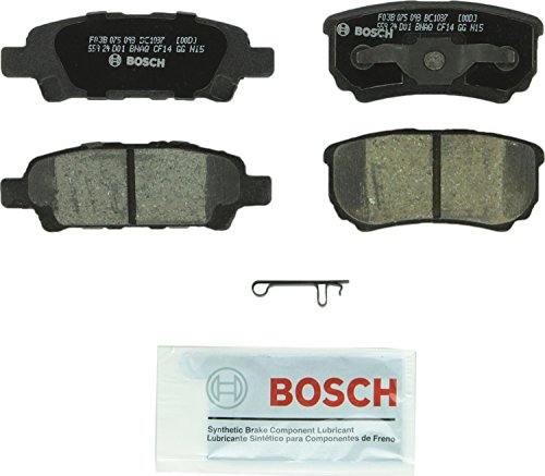 Bosch BC1037 QuietCast Premium Ceramic Disc Brake Pad Set For Select Chrysler 200, Sebring; Dodge Avenger, Caliber; Jeep Compass, Patriot; Mitsubishi Lancer, Outlander; Rear