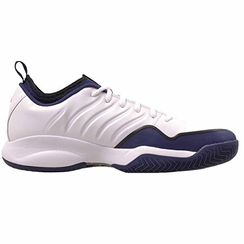 NIKE Mens Air Oscillate XX Tennis Shoes, White/Black-University Red White / Midnight Navy - Black