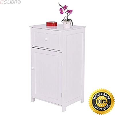 Strange Amazon Com Colibrox White Floor Storage Cabinet Bathroom Interior Design Ideas Ghosoteloinfo