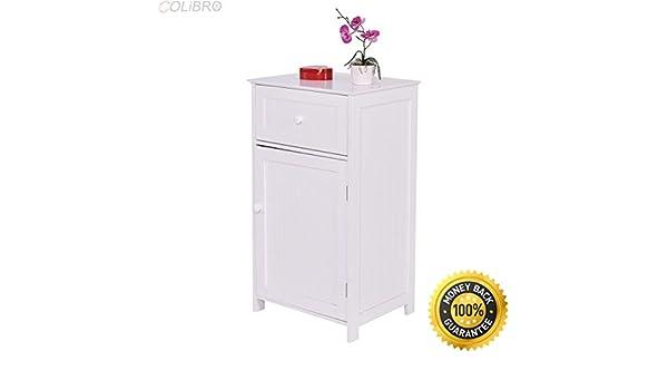 Fine Amazon Com Colibrox White Floor Storage Cabinet Bathroom Interior Design Ideas Ghosoteloinfo