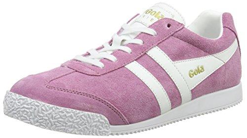 Gola Women's Harrier Sneaker,Dusky Pink/White Suede,US 8 M