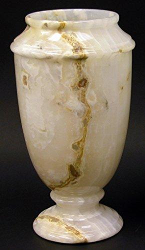 Onyx Vase (Nature Home Decor FVC7013WO White Onyx 13-Inch Classic Decorative Vase)