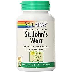 Solaray St. John's Wort Capsules, 325 mg, 180 Count