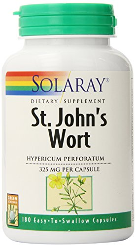 Solaray St. John's Wort Capsules, 325 mg, 180 Count (Capsule Wort 180)