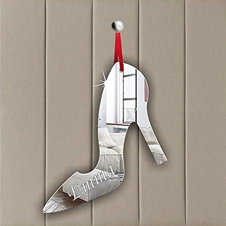High Heel Shoe Acrylic Mirror Ornament - Window Hanging - Ceiling - Door - Nursery - Children - Room Decoration Mirrors-interiors