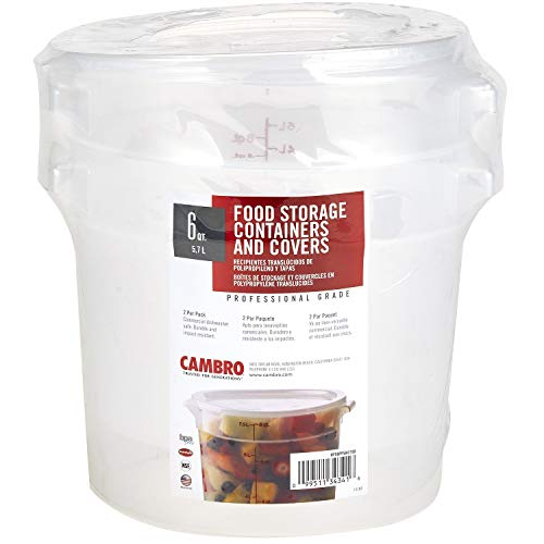 Cambro Round Translucent Container with Lid (6 qt, for sale  Delivered anywhere in USA