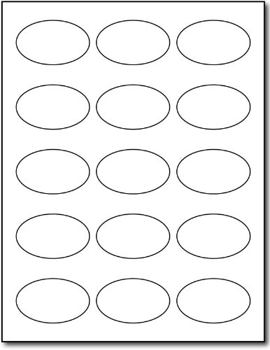 Photo Gloss Oval Labels, 15-up, 150 labels ()