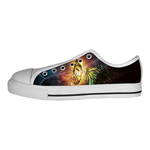 Custom Colore Flying Butterfly Mens Canvas shoes I lacci delle scarpe in Alto sopra le scarpe da ginnastica di scarpe scarpe di Tela.