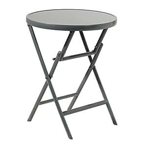 Mesa plegable de aluminio 60x 74cm Granito mesa mesa de jardín o terraza Mesa comedor