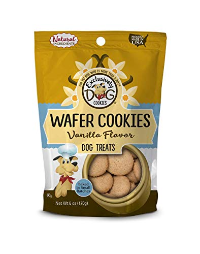 Exclusively Pet Wafer Cookies-Vanilla Flavor, 8-Ounce Package