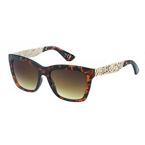 de teinté pour femme Marron Chic avec marron net soleil glamour style floral style monture lunettes strass aviateur IwqAEHAxO