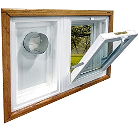Amazon Com Dryer Vent And Hopper Window Combination 32 W X 24 H Left Side Vent Home Improvement