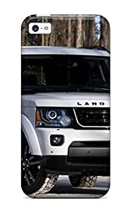 High Impact Dirt/shock Proof Case Cover For Iphone 5c (2014 Land Rover Lr4 White)