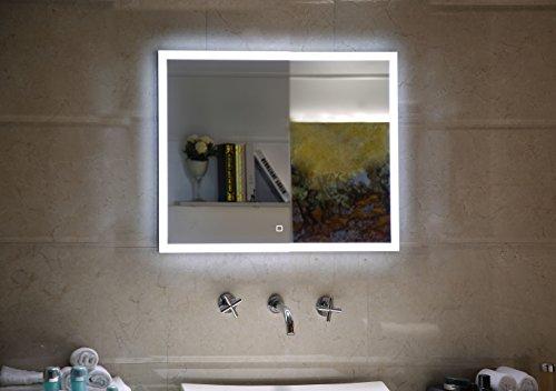 Badspiegel 60x60.Badezimmerspiegel Badspiegel Mit Led Beleuchtung Touch Schalter 60 X 60 Cm