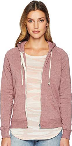 Alternative Women's Adrian Eco-Fleece Zip Hoodie, Eco True Autumn Red, XSmall ()