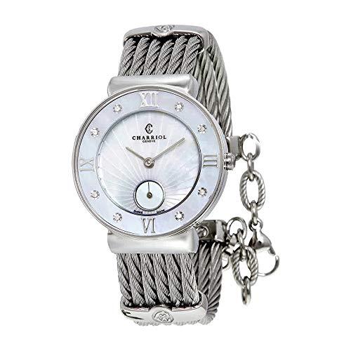 Charriol Women's 'St Tropez' Diamond Dial Stainless Steel Watch ST30SD.560.008
