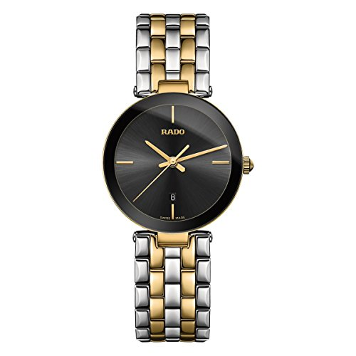 Rado Women's Florence 28mm Multicolor Two Tone Steel Bracelet Steel Case Quartz Black Dial Watch R48871153
