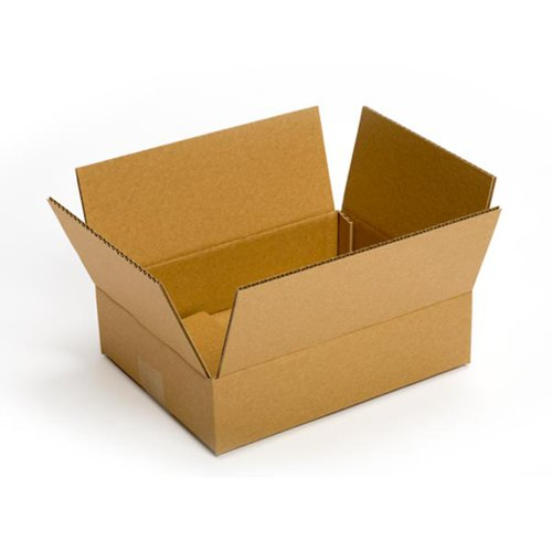 Pratt PRA0049 Recycled Corrugated Cardboard Single Wall Standard Flat Printer's Box with C Flute, 12'' Length x 9'' Width x 3'' Height, (Pack of 25) by Pratt