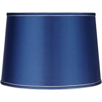 Sydnee satin medium blue drum lamp shade 14x16x11 spider sydnee satin medium blue drum lamp shade 14x16x11 spider aloadofball Image collections