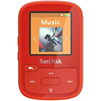SanDisk SDMX28-016G-G46R Clip Sport Plus MP3 Player, 16GB (Red)