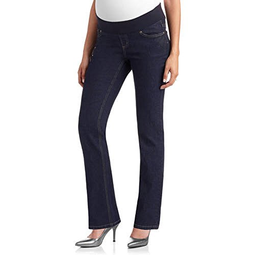 Boot Cut Rinse Wash (Planet Motherhood Demi-Panel 5-Pocket Bootcut Maternity Blue Jeans (M, Rinse Wash))