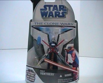 Asajj Ventress Lightsaber - Star Wars Clone Wars Action Figure No. 15 Asajj Ventress