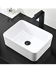 Above Counter Bathroom Sink White
