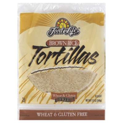 Food For Life, Tortillas Brown Rice Wheat Free Gluten Free, 12 Ounce by Food for Life