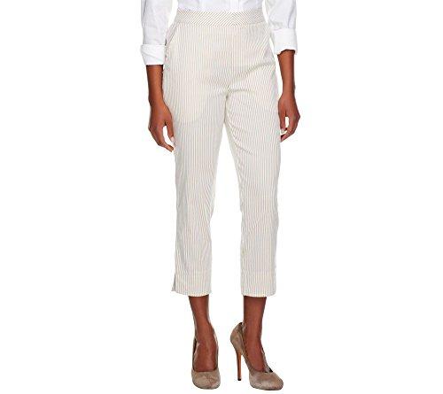 Seersucker Crop Pants - Star Jones Seersucker Pin Stripe Crop Pants